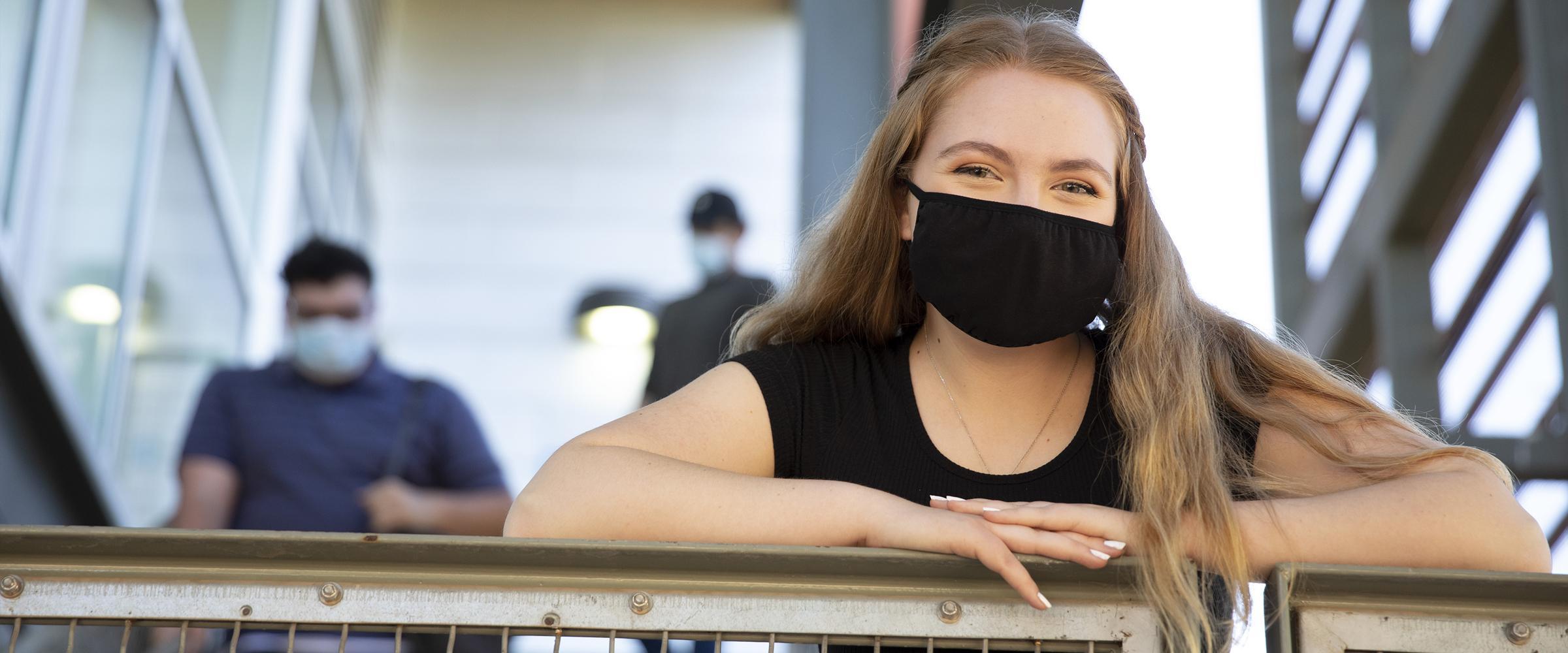 ASU student smiling on campus