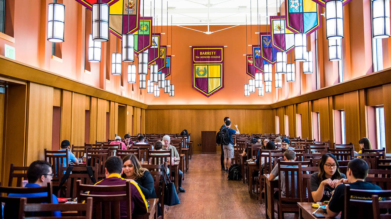 The dining hall at Barrett, The Honors College