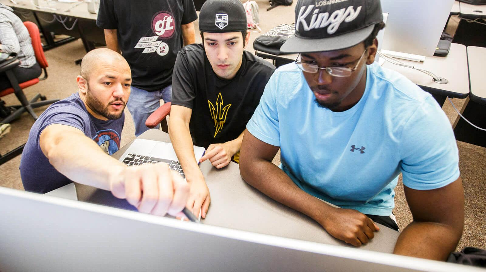 GIT Students work at a computer lab on the Polytechnic campus